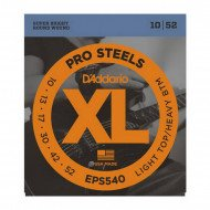 D'Addario EPS540 Xl Pro Steels Light Top Heavy Bottom 10-52