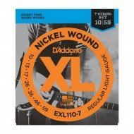 D'Addario EXL110-7 Xl Regular Light 7-String 10-59