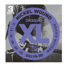 D'Addario EXL115-3D Xl Blues Jazz Rock 11-49 - 3 Set