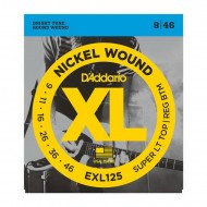 D'Addario EXL125 Xl Super Top  Regular Bottom 09-46