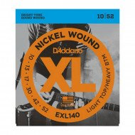 D'Addario EXL140 Xl Light Top  Heavy Bottom 10-52