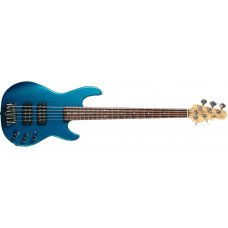 Бас-гитара G&L L2500 Five Strings Emerald Blue, rosewood