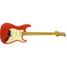 Электрогитара G&L Legacy Fullerton red, 3-ply Vintage, Creme, Maple