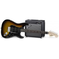 Электрогитара Fender Squier Strat Pack HSS Brown Sunburst