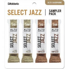 D'Addario Select Jazz Reed Sampler Pack - Alto Sax 3S/3M