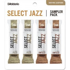 D'Addario Select Jazz Reed Sampler Pack-Baritone Sax 3S/3M