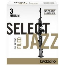 Трость D'Addario Select Jazz - Soprano Sax 3M - 10 Box