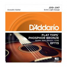 D`Addario EFT15 Flat Tops Extra Light 10-47
