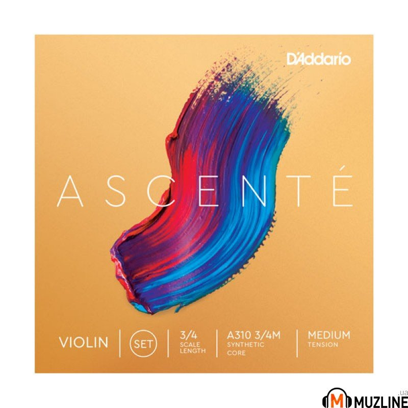 Струны для скрипки D`Addario A310 3/4M Ascenté Violin Strings 3/4M