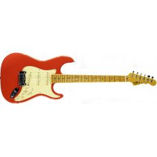 Электрогитара G&L Legacy Fullerton red, 3-ply Vintage Creme Maple