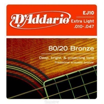 D'Addario EJ10 80/20 Bronze Extra Light 10-47