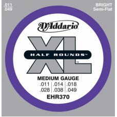 D'Addario EHR370 Xl Half Rounds Medium 11-49