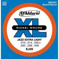 D'Addario EJ20 Xl Jazz Extra Light 10-49