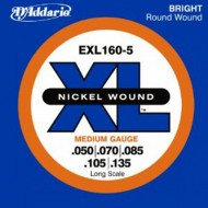 D'Addario EXL160-5 XL Medium 5 String 50-135