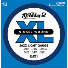 D'Addario EJ21 Xl Jazz Light 12-52