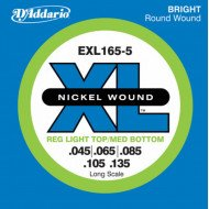 D'Addario EXL165-5 XL Reg Light Top Med Bottom 5 String 45-135