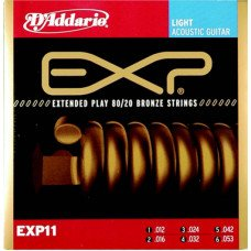 D'Addario EXP11 80/20 Bronze Light 12-53