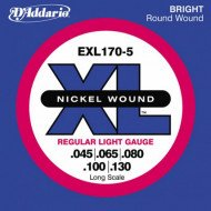 D'Addario EXL170-5 XL Regular Light 5 String 45-130