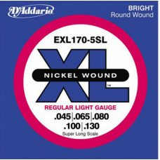 D'Addario EXL170-5SL XL Regular Light 5 String 45-130