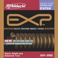 D'Addario EXP26 Phosphor Bronze Custom Light 11-52
