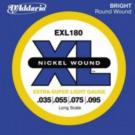 D'Addario EXL180 XL Extra Super Light 35-95