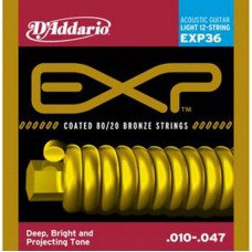 D'Addario EXP36 80/20 Bronze Light 12-String 10-47
