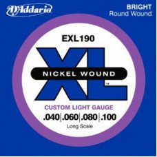 D'Addario EXL190 XL Custom Light 40-100