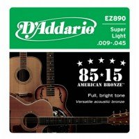 D'Addario EZ890 Bronze Super Light 9-45