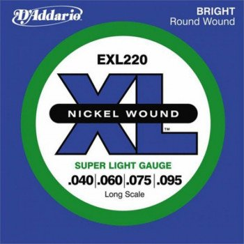 D'Addario EXL220 XL Super Light 40-95