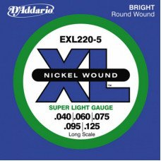D'Addario EXL220-5 XL Super Light 5 String 40-125