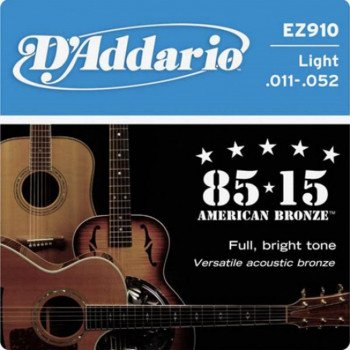 D'Addario EZ910 Bronze Light 11-52