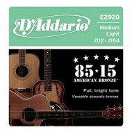 D'Addario EZ920 Bronze Medium Light 12-54