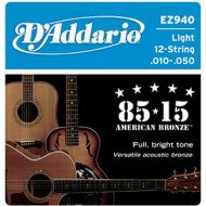 D'Addario EZ940 Bronze Medium 12 Strings 10-50