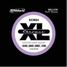 D'Addario ECB84 XL Chromes Flatwound Bass 40-100