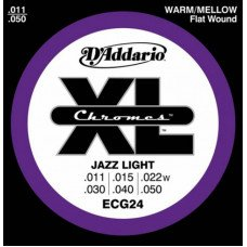 D'Addario ECG24 Xl Chromes Jazz Light 11-50