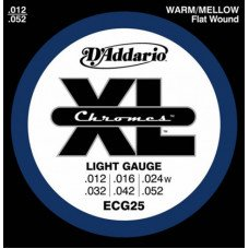 D'Addario ECG25 Xl Xl Chromes Light 12-52