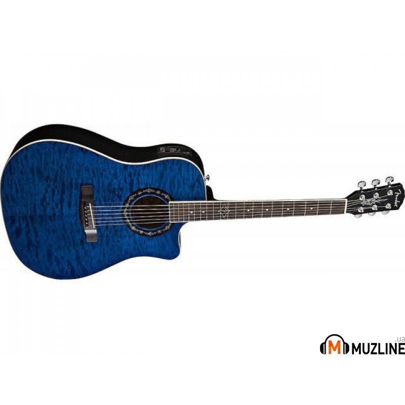 Электроакустическая гитара Fender Tbucket 300SCE Trans Blue