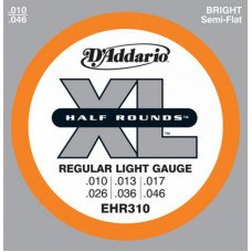 D'Addario EHR310 Xl Half Rounds Regular Light 10-46