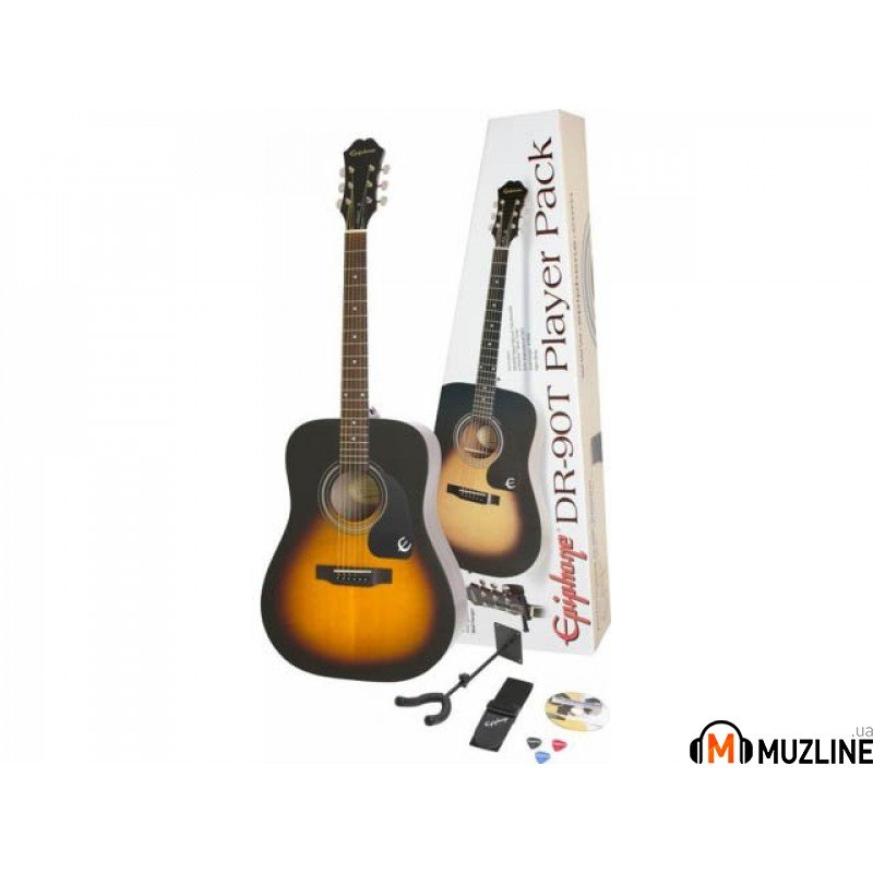 Акустическая гитара Epiphone DR-90T Acoustic Player Pack VS