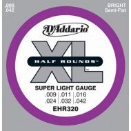 D'Addario EHR320 Xl Half Rounds Super Light 09-42