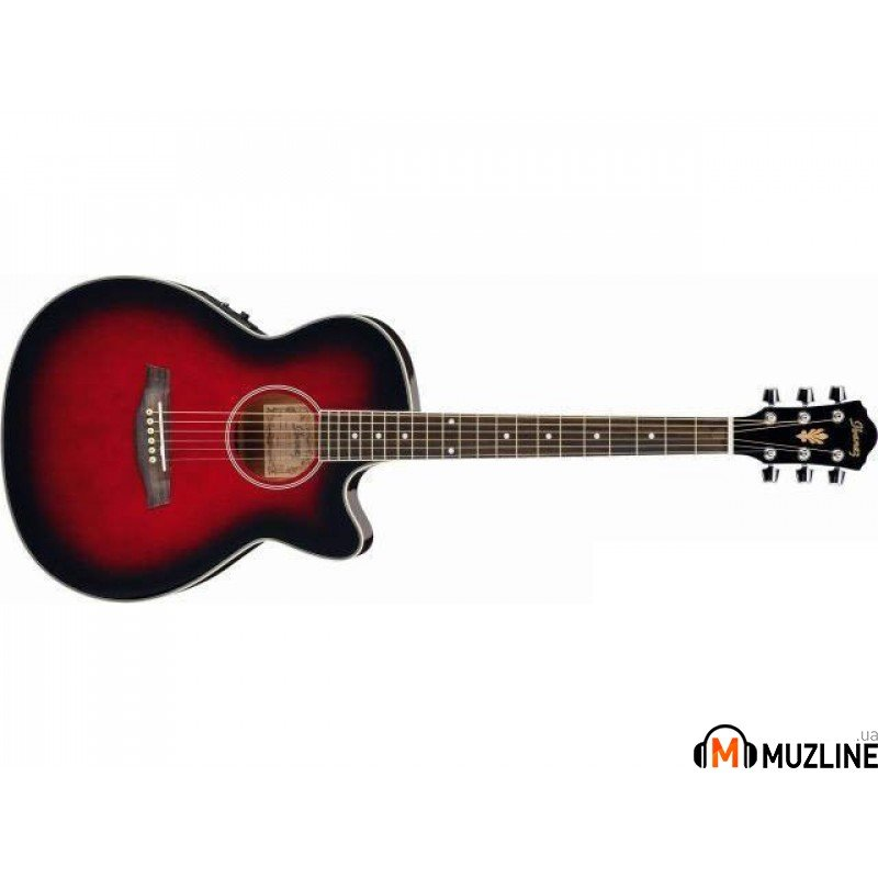 Электроакустическая гитара Ibanez AEG20E Transparent Red Sunburst