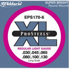 D'Addario EPS170-6 Pro Steels Light 6 String 30-130