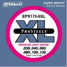 D'Addario EPS170-6SL Pro Steels Light 6 String 30-130