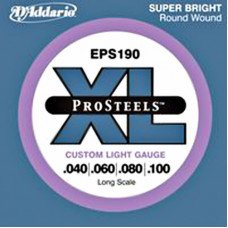 D'Addario EPS190 XL Pro Steels Custom Light 40-100