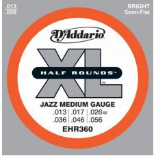 D'Addario EHR360 Xl Half Rounds Jazz Medium 13-56