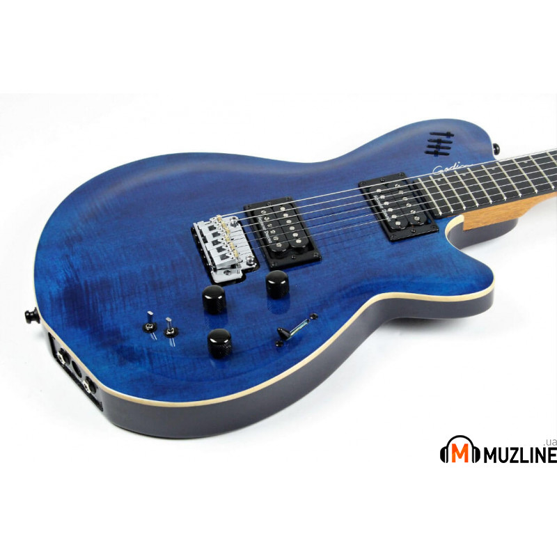 Электрогитара Godin LGXT Transparent Blue Flame AAA (Made in Canada - 022946)