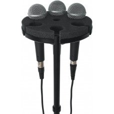 Gator GFW-MIC-6TRAY Multi Microphone Tray Holds 6 Microphones