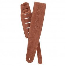 Planet Waves PW25PRF04 Vented Leather Guitar Strap, Camel Suede Rosette