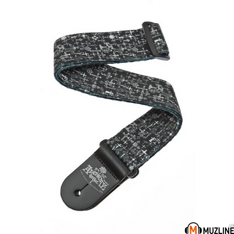 Planet Waves PW50AL02 Alchemy Guitar Strap, Gothic Crosses