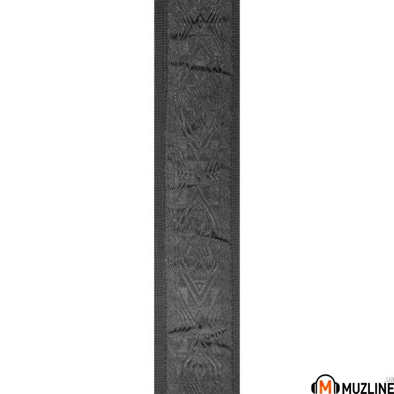 Planet Waves PW50B01 Woven Guitar Strap, Black Satin